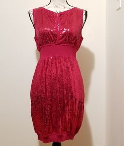 bebe sequin dress red nwt
